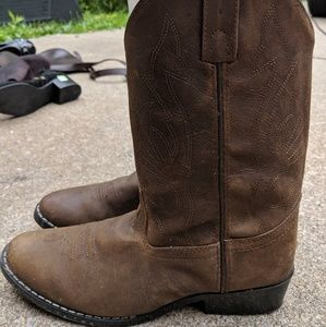 Masterson Boot Co. Tan Leather Cowboy Boots 6D